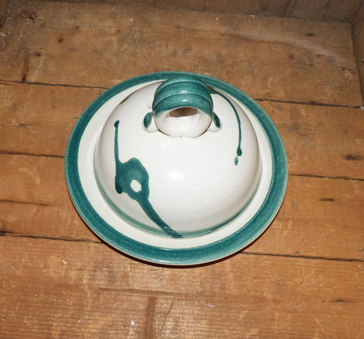 Jacquelyn Lumsden Pottery Waterloo  Butter Dish With Lid -  1415 by WildroseHeaven on Etsy