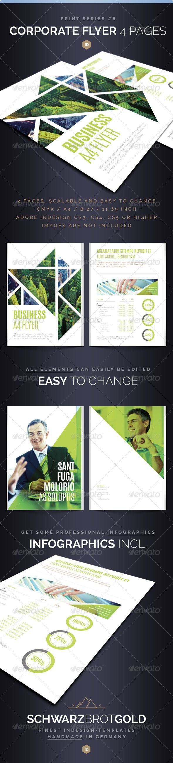 Corporate Flyer 4 Pages Series 6 #graphicriver