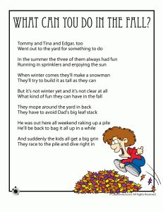 Fall Poems for Kids - - Pinned by #PediaStaff.  Visit http://ht.ly/63sNt for all our pediatric therapy pins