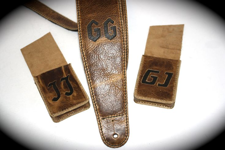 Custom guitar strap and playing card cases.  Make a great gift.  visit www.etsy.com/shop/flatlineleather