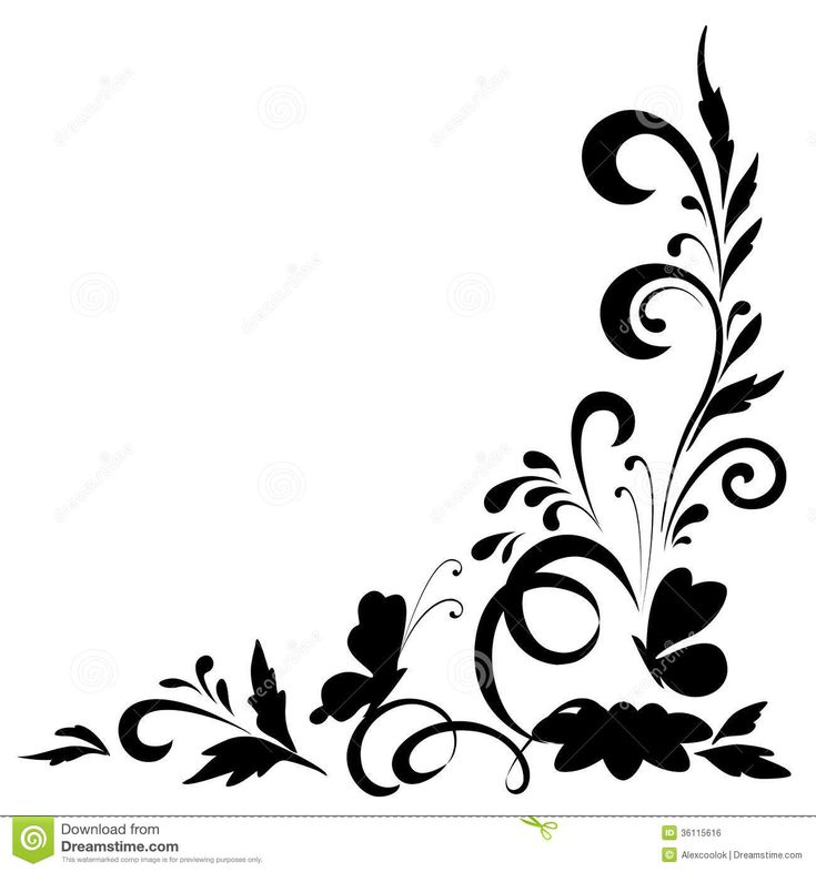 Abstract floral background Butterfly Background Black And White