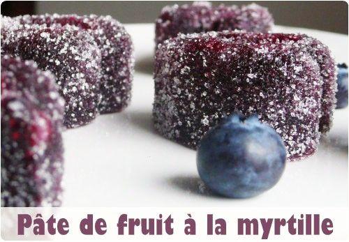 Pâte de fruits à la myrtille simplissime