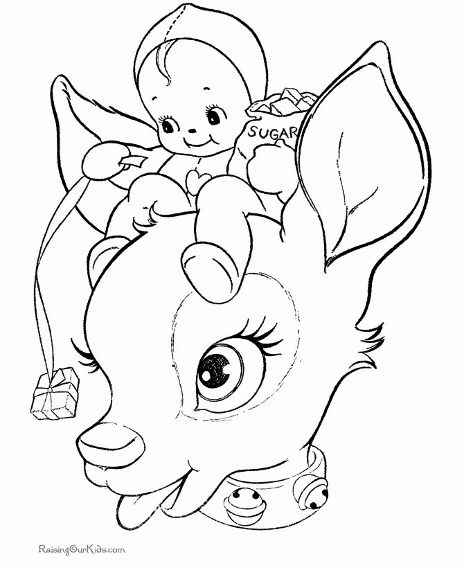 Kawaii Christmas Coloring Pages Fresh Cute Reindeer Coloring Pages Gambar Warna Gambar Kartun
