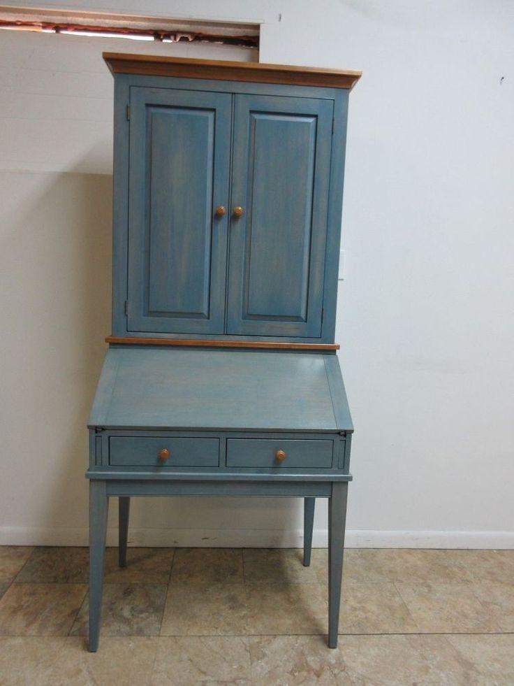 Ethan Allen Country Colors Denim Blue Secretary Ladies