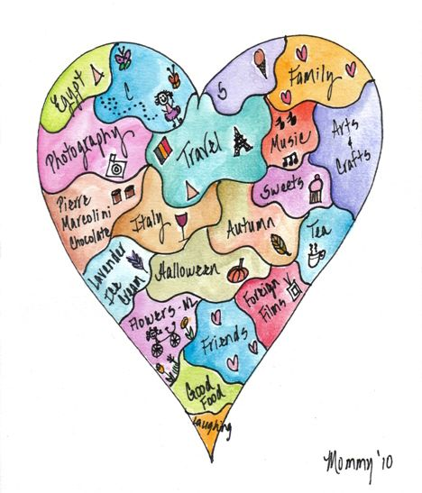 Heart Map-so doing this project with my students...would be a fun way of getting to know them at the beginning of the year...