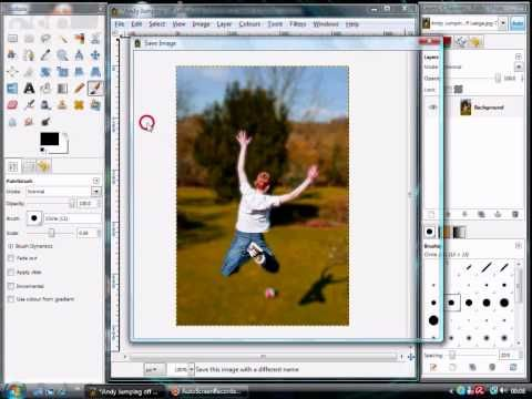 How to Blur the background of an image in GIMP - YouTube