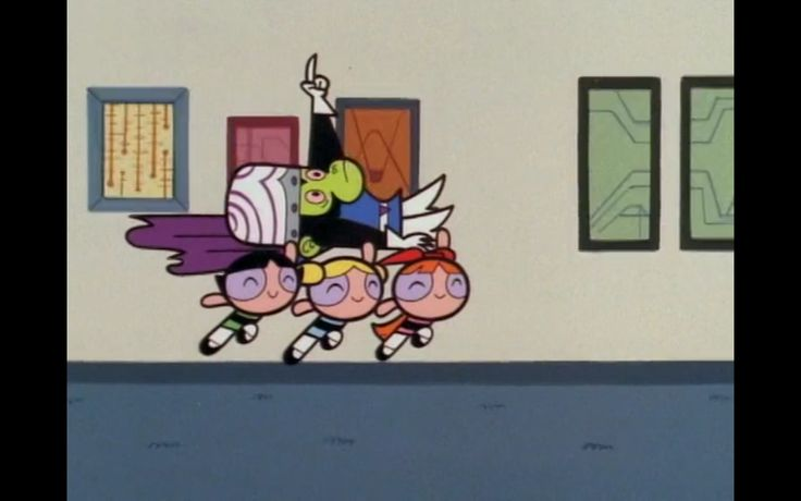 Mojo Jojo as the babysitter from the Powerpuff Girls episode, Child Fearing