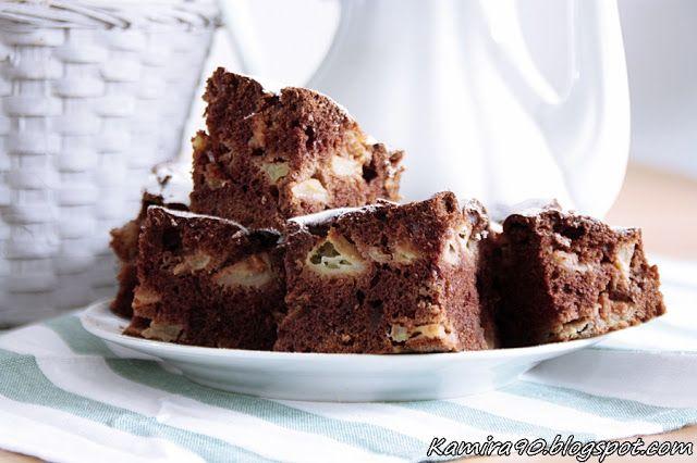 "Ciasto ""salceson"" z jabłkami"