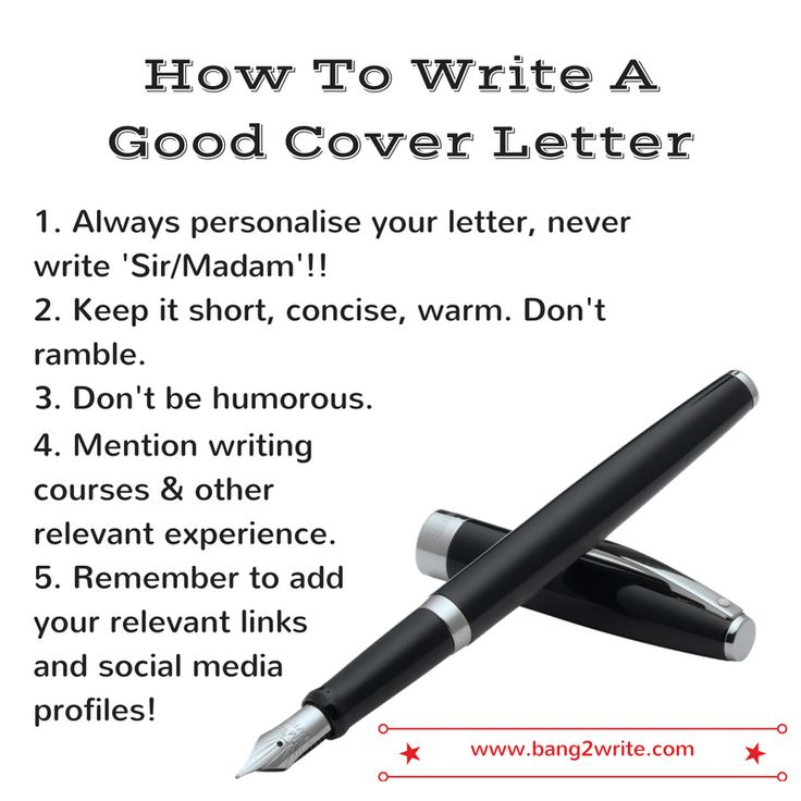 how to write a good cover letter - Write A Good Covering Letter