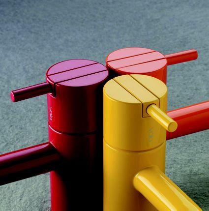 Vola HV1-colours basin mixer taps. Liquid Design 01604 721993