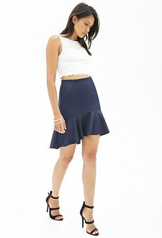 Fluted Woven Skirt | FOREVER21 - 2000068379