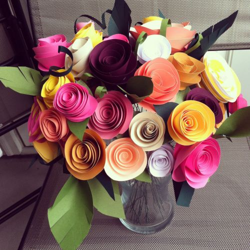 """Have a paper flower making party! Read: """"7 Links for Making Paper Flowers While You're Relaxing"""" for inspiration.  #paperflowertutorials. #diywedding  #diyparty"""