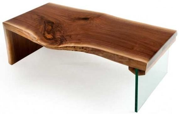 Mesa De Centro Moderna Vivo Borde Losa Oak Table Live Edge