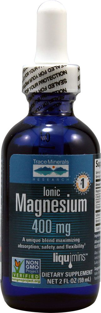 Trace Minerals Research Ionic Magnesium -- 400 mg - 2 fl oz