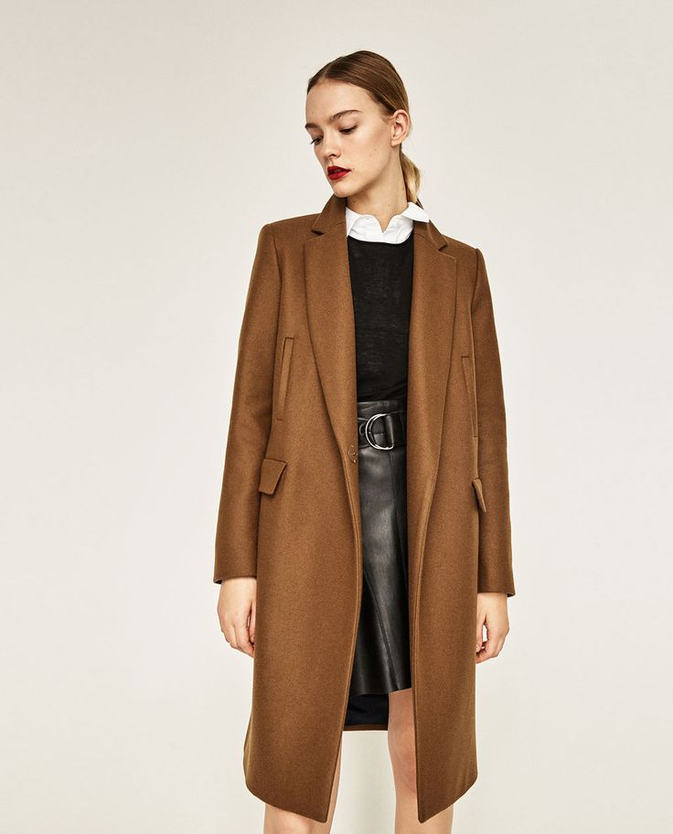 M s de 1000 ideas sobre abrigos mujer en pinterest zara chaquetas vaqueras y camisas mujer - Manteau coupe masculine pour femme ...