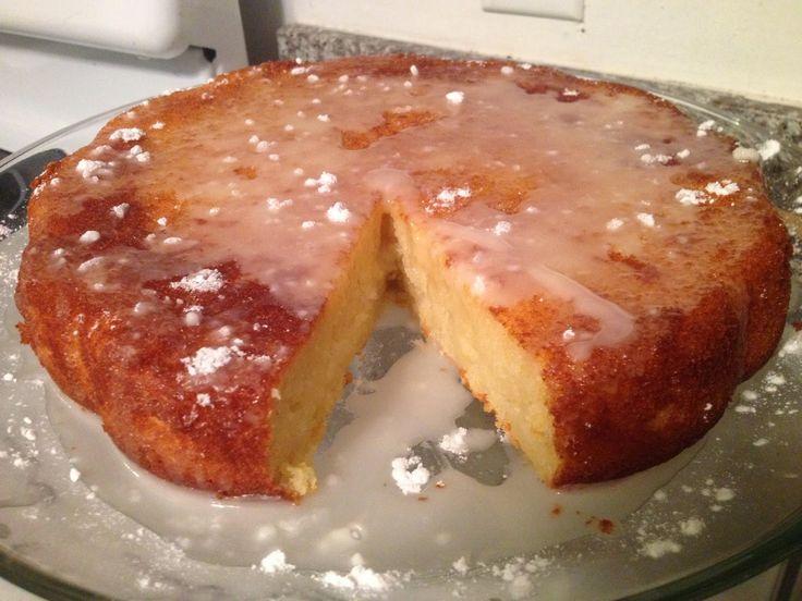 Besa's Albanian Recipes!: Lemon Glazed Ricotta Cake