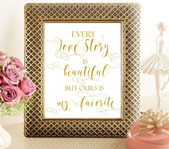 70% SALE Every love story printable wedding by PrintableMemoriesCo