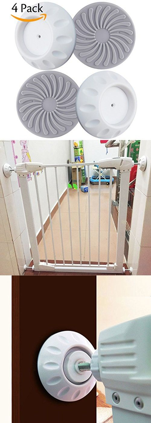 Darller 4 Pack Safety Wall Protector Wall Guard for Pressure Gates Designed for Child, Baby Wall Protection Cups Guard Pads
