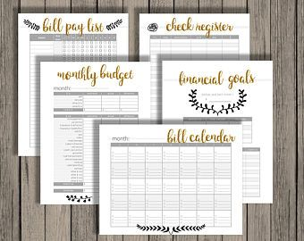 The budget printable set is now available in a brand new lovely design! Printables for all areas of the household by Chaos Made Simple. www.etsy.com/shop/chaosmadesimple