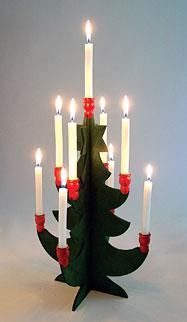 Scandinavian Candleholder, I think. Well, I've seen those very oftehn in Sweish homes or the Swedish congregation, but I simply assumed it was generally common in Scandinavia. But I might be wrong...