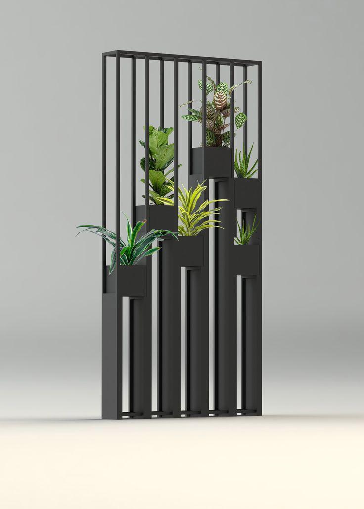 Greentower, claustra en métal pour séparer vos pièces ou jardins...Design by Aurélia Berauer