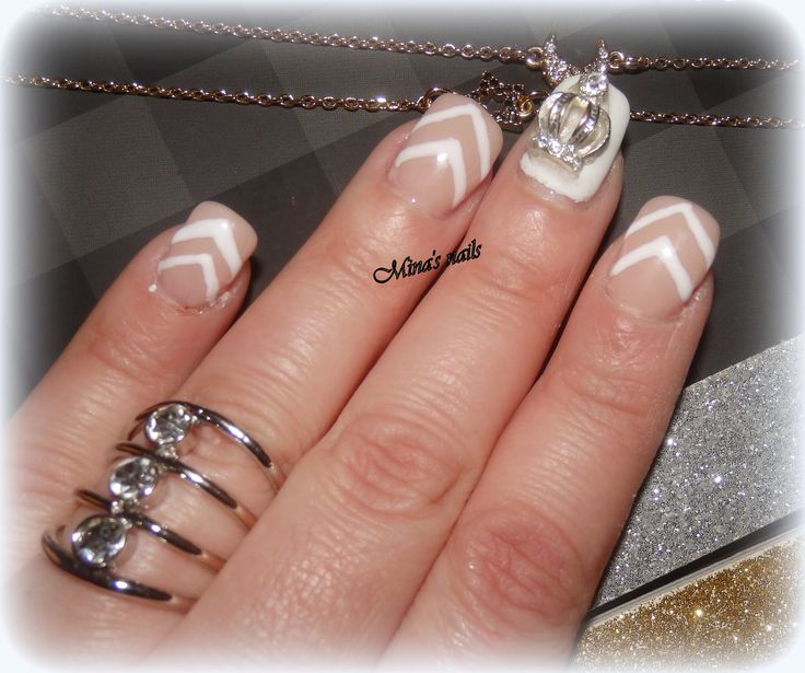 white and natural nails lovely!!!!!!!!
