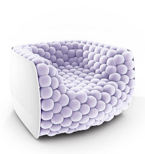 Blueberry's armchair in purple and white | armchair . Sessel . fauteuil | Design: Carlo Colombo | Byografia |