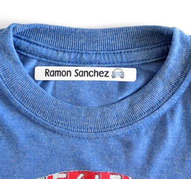 Etiquetas termoadhesivas para ropa. Etiquetas de algodón.