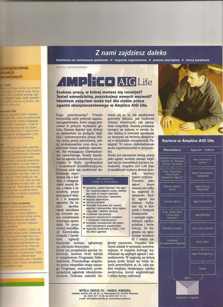Materiały o Amplico AIG (do magazynów wydawnictwa Platforma Mediowa Point Group)
