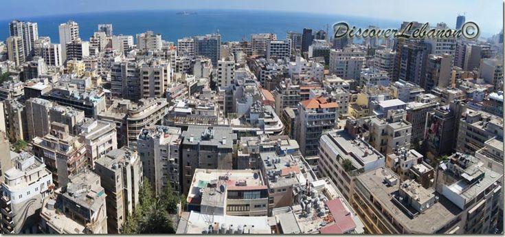 An aerial view Beirut Hamra - Buildings