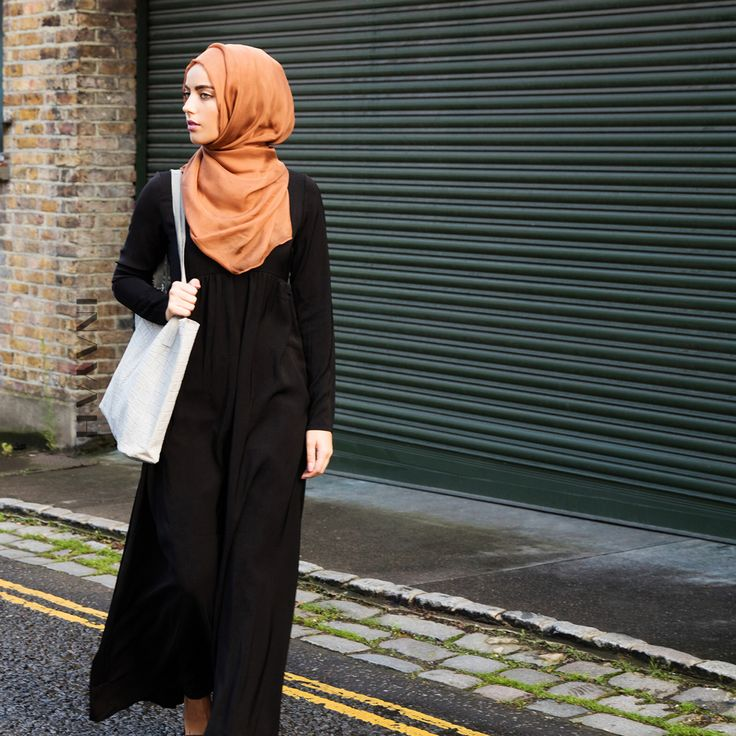 INAYAH | #Classic Black Casual #Abaya - visit www.inayah.co to see more of our abaya collection!