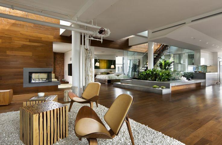 Broadway Penthouse / Joel Sanders: Living Rooms, Open Spaces, Interiors Design, Modern Loft, New York, Interiors Gardens, Modern Interiors, Broadway Penthouses, Open Plan