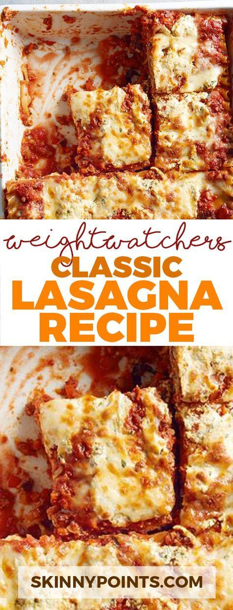 Classic Lasagna Recipe Come With 9 Weight Watchers Smart Points