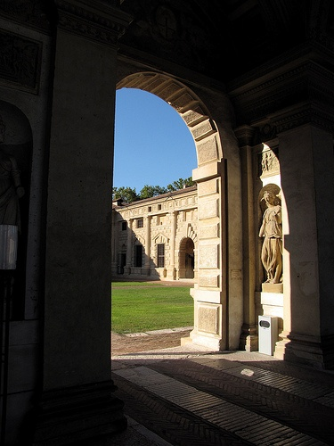 Looking into Courtyard of Palazzo del Te