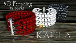 Beaded Bracelet KALILA. 3D Beading Tutorial – YouTube