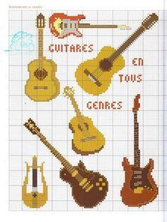 guitars cross stitch - Buscar con Google