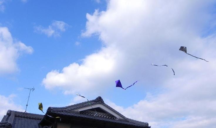 凧揚げ「五連凧」