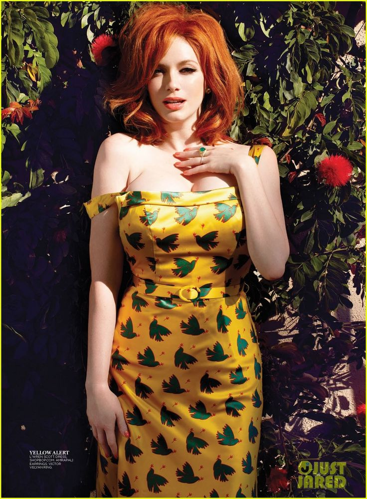 "28351_christina_hendricks_covers_flare_may_2013_06.jpg ""Qui? Moi? Mais alors! Pourquoi?"""