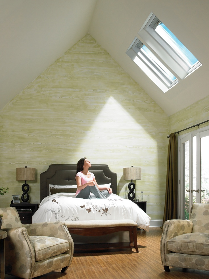 109 best skylights and roof windows images on pinterest for Bedroom skylight
