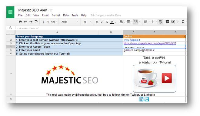 Come creare un alert su MajesticSEO per la perdita di link - Step6