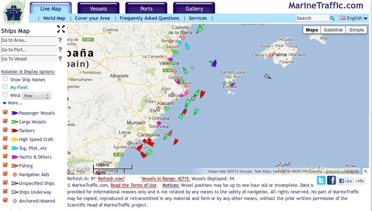 MARINE TRAFFIC - živá online mapa námornej a riečnej dopravy. Budúcnosť pirátov je tu už dnes!