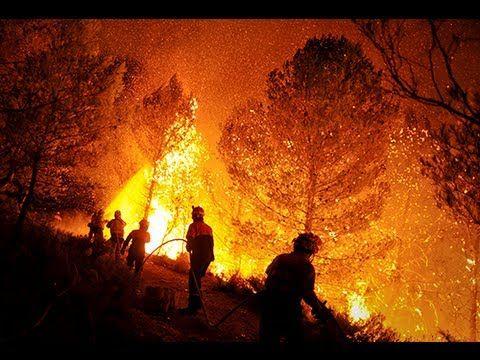 Impactantes imágenes de los incendios forestales de 2012 - YouTube