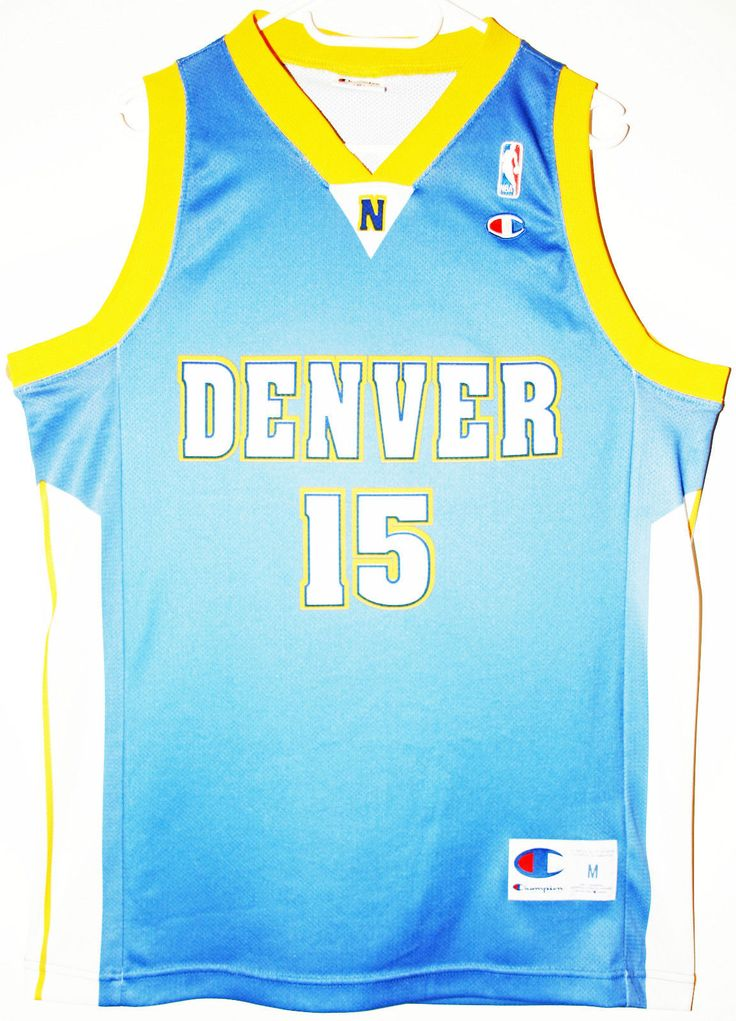Champion NBA Basketball Denver Nuggets #15 Carmelo Anthony Trikot/Jersey Size 40 - Größe M - 49,90€ #nba #basketball #trikot #jersey #ebay #sport #fitness #fanartikel #merchandise #usa #america #fashion #mode #collectable #memorabilia #allbigeverything