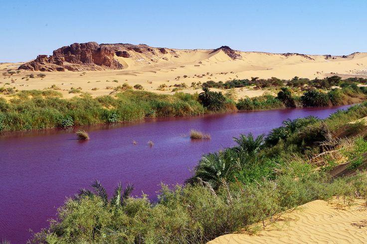 Color-changing Lake Ajou