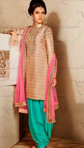 Awesome #simple #punjabi #suit Adorable.....loved the color combination
