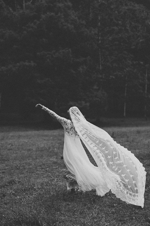 Long Ivory French lace robe / jacket bridal by Graceloveslace, $395.00
