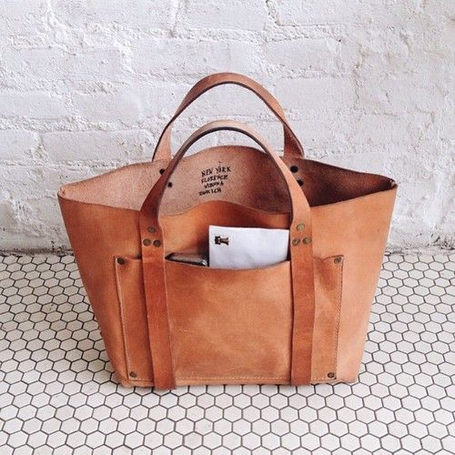 bag, brown, and fashion image