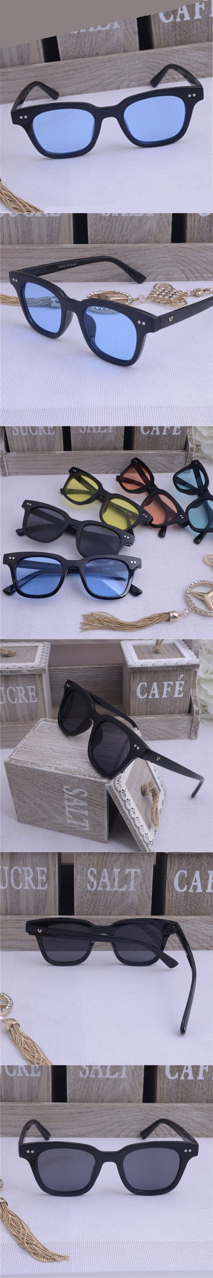 2017 new men's fashion sunglasses high-end luxury watches glasses glasses brand design UV400 sunglasses round large frame retro
