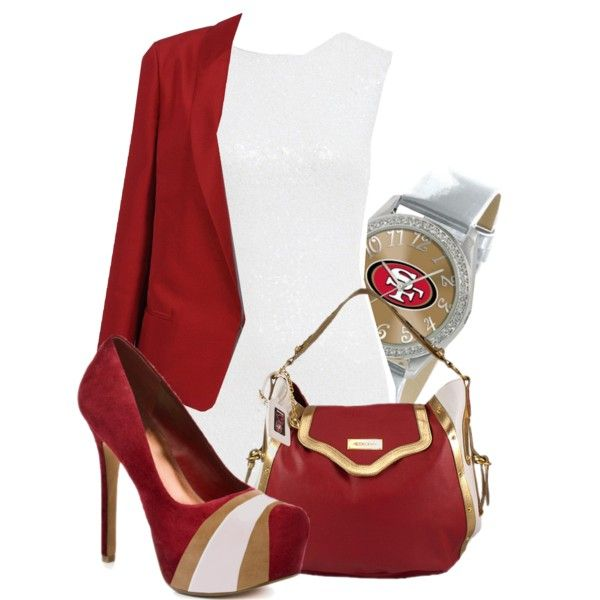 """San Francisco 49ers Outfit ft HERSTAR shoes"""