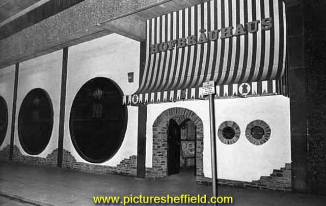 Hofbrauhaus, junction of Furnival Gate and Eyre Street